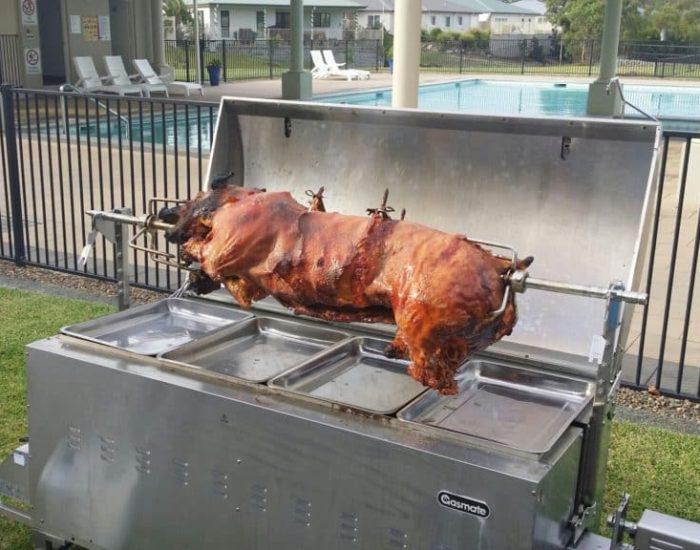 Pig on a spit Roasting