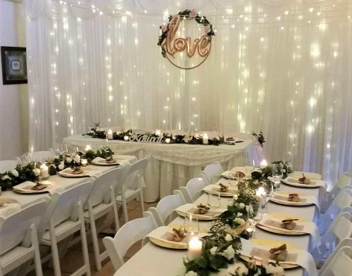Wedding Reception Set Up
